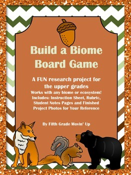 Build a Biome Board Game Ecosystem Study