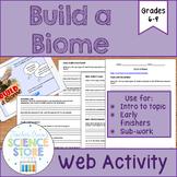 Build a Biome Web Activity