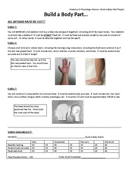 Build a Body Part Project