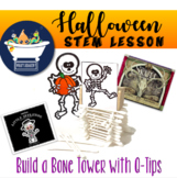 Build a Bone Tower Halloween - STEAM STEM