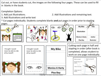 Parts of a Book Activity - Become the Author and Illustrator