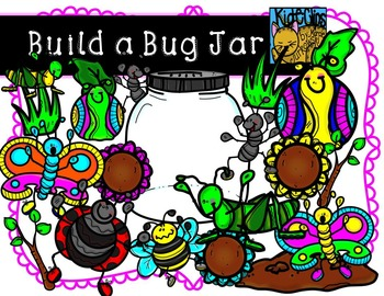 Build a Bug Jar Insect Bug Clip Art Kid-E-Clips Personal and Commercial Use