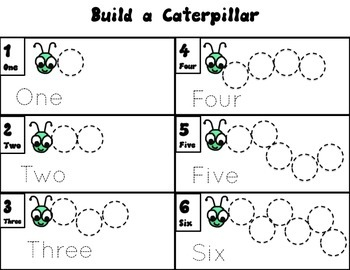 Build a Bug math activites