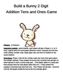 Build a Bunny 2 Digit Addition Plus TENS and ONES Game