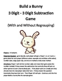 Build a Bunny 3 Digit - 3 Digit Subtraction With and Without Regrouping Game