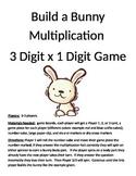 Build a Bunny 3 Digit x 1 Digit Multiplication Game