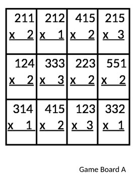 Build a Bunny 3 Digit x 1 Digit Multiplication Game