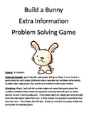 Build a Bunny Addition Extra Information Word Problems (1 digit + 1 digit)