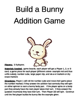 Build a Bunny Addition Game