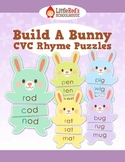 CVC Rhyme Puzzles Work Station Center - Build a Bunny