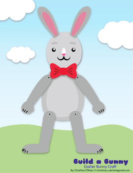 Build a Bunny Easter Bunny Craft (with b/w lines)
