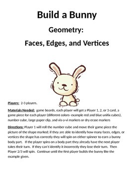 Build a Bunny Geometry Faces Edges and Vertices Game
