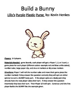 Build a Bunny: Lilly's Purple Plastic Purse by Kevin Henkes Game