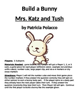 Build a Bunny Mrs. Katz and Tush by Patricia Polacco Compr