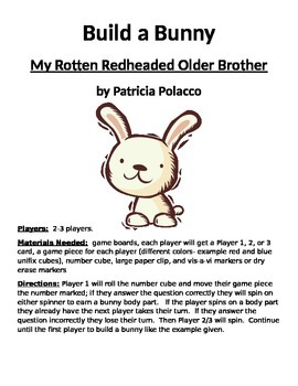 Build a Bunny: My Rotten Redheaded Older Brother by Patric