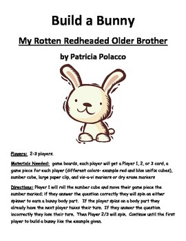 Build a Bunny My Rotten Redheaded Older Brother by Patricia Polacco