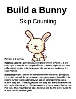 Build a Bunny Skip Counting