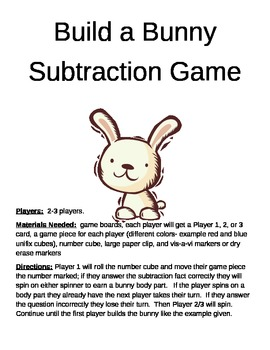 Build a Bunny Subtraction Game