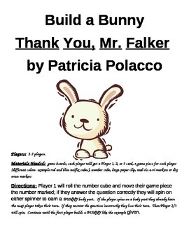 Build a Bunny Thank You Mr. Falker by Patricia Polacco Game