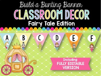 Build a Bunting Banner: Fairy Tale Classroom Decor