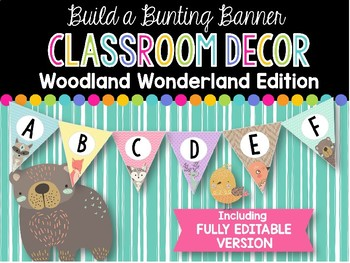 Build a Bunting Banner: Woodland Wonderland Classroom Decor