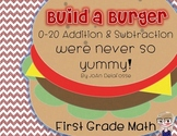 Build a Burger Addition & Subtraction for Kinder, 1st Grade - Math Center CC