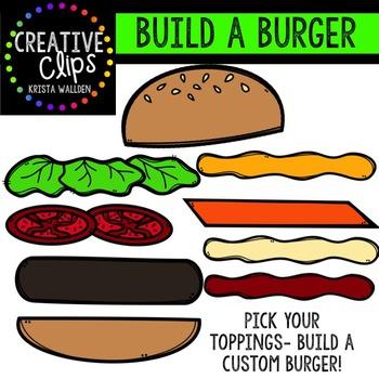 Build a Burger {Creative Clips Digital Clipart}
