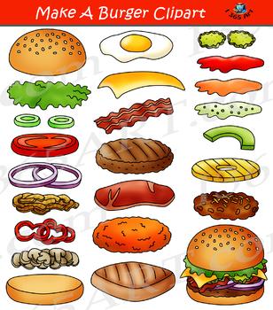 Build a Burger Make Hamburger Clipart Bundle