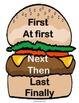Build a Burger: Procedural Writing & Word Wall Materials & Printables in English