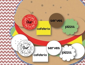 Build a Burger Sentence Building for Back to School - Literacy CC