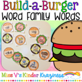 Build a Burger: Word Family Words