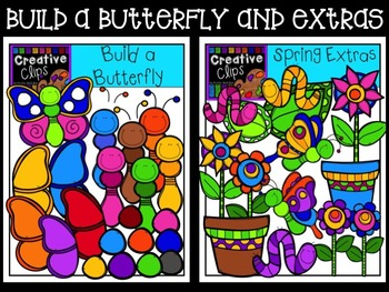 Build a Butterfly and Spring Extras {Creative Clips Digital Clipart}