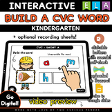 Build a CVC Word - Distance Learning for Seesaw & Google Slides