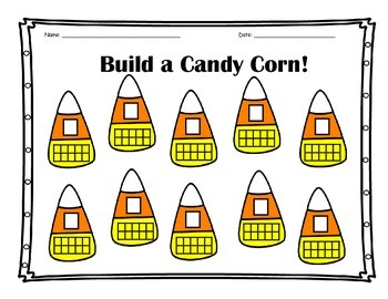 Build a Candy Corn Recording Sheet