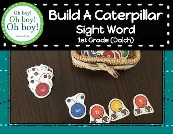 Build a Caterpillar Sight Word - First Grade