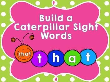 Build a Caterpillar Sight Words