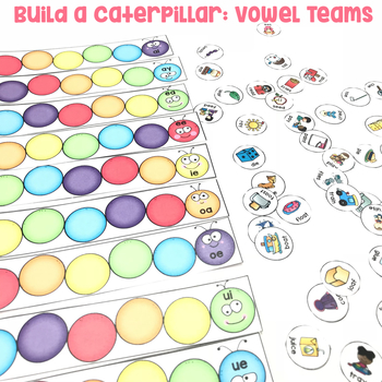 Build a Caterpillar: Vowel Teams