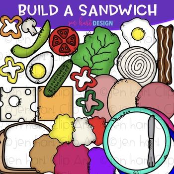 Build-a-Center Clipart- Build a Sandwich {jen hart Clip Art}