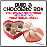 Build a Chocolate Box Valentine Following Directions