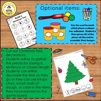 Build a Christmas Tree Activity To Increase Sentence Length in Speech Therapy