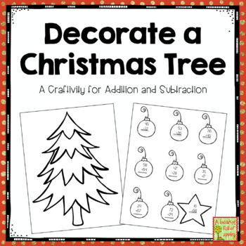 Build a Christmas Tree: An addition and subtraction craftivity
