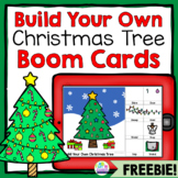 Build a Christmas Tree Free Speech Therapy Boom Cards