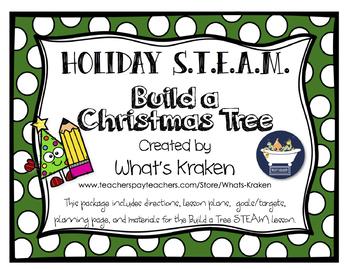 Build a Christmas Tree - STEAM STEM *Editable Word DOC*