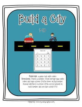 Build a City- Number recognition and counting 1-10