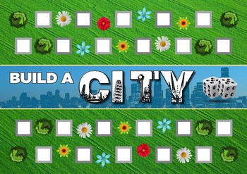 Build a City - Unifix Cubes Activity Sheet