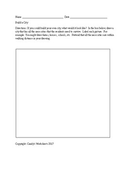 Build a City Worksheet