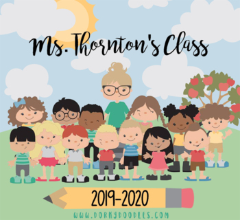 Build a Class Clipart Set - 575 Pieces to Build Virtual Teachers and Students
