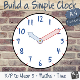 TELLING TIME Build a Simple Analogue Clock Hours and Minut