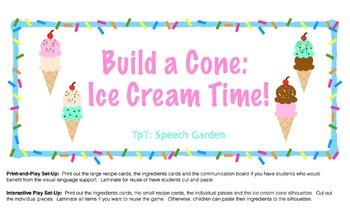 Build a Cone: Ice Cream Time!
