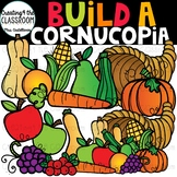 Build a Cornucopia Clipart {Thanksgiving Clipart}